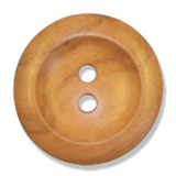Large Olive Wood 2 Hole Button - 28mm diameter