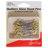 Sew Easy Quilters Glass Head Pins - 45 mm