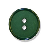 Small Plastic Ring Edge Button - various colours - 15mm diameter